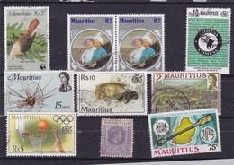 MAURICE : Y&T : Lot De 10 Timbres Oblitérés - Maurice (1968-...)