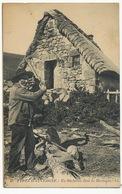 Bucheron En Auvergne Près D Un Buron Sabots - Craft