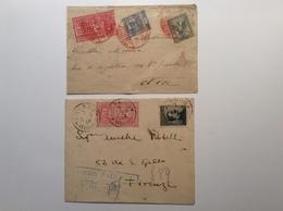 Regno D' Italia ESPRESSO ROMA 1906 Red Postmark > France + LIVORNO Blue Pmk (lettera Cover Express - 1900-44 Vittorio Emanuele III