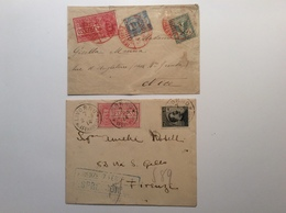 Regno D' Italia ESPRESSO ROMA 1906 Red Postmark > France + LIVORNO Blue Pmk (lettera Cover Express - Express Mail