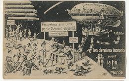 Surrealisme Fin Du Monde Excursion Sur La Lune Par Le Dirigeable Clement Bayard II ELD - Dirigibili