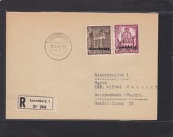 EINGESCHRIEBENE  BRIEF  VON LUXEMBURG MIT WHW MARKEN NACH REICHENBACH(VOGT). - 1940-1944 Occupation Allemande