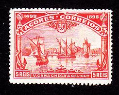 Azores, Scott #94, Mint Hinged, Vasco De Gama, Issued 1898 - Açores