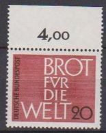 BRD 1962 MiNr.389  ** Postfr. Brot Für Die Welt ( 6956 ) Günstige Versandkosten - BRD