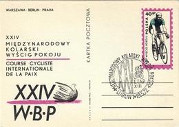 I.P. POLAND 1971 XXIV INTERNATIONAL CYCLING RACE FOR THE PEACE WARSZAWA/BERLIN/PRAHA CANCELLATION 19.5.1972 ETAP XIII - Ciclismo