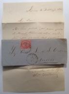 Regno D' Italia LIVORNO 1865 Sa 20> TUNISI POSTE ITALIANE (lettera Cover Tunisie Lettre Tunisia Italy - Marcophilia