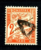 Taxe 41 - 2F Rouge-orange - Oblitéré - Très Beau - Impuestos