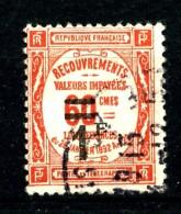Taxe  53 - 1F Sur 60c Rouge - Oblitéré - Très Beau - Impuestos