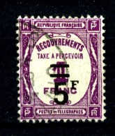Taxe  65 - 5F Sur 1F Lilas - Oblitéré - Très Beau - Impuestos