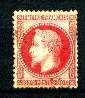 32 - 80c Rose Empire Lauré - Oblitéré - Très Beau - 1863-1870 Napoléon III Con Laureles