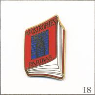 """Pin's Télévision / Emission """"Apostrophes"""" (B. Pivot Antenne 2) - Sponsor Paribas-Couverture Rouge. Est. A.B. T607-18 - Medias"""