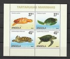 Angola 2007, Turtles 4v M/s Mnh - Angola