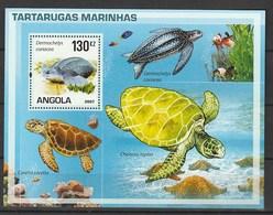 Angola 2007, Turtles S/s Mnh - Angola