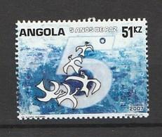 Angola 2007, 5 Years Peace 1v Mnh - Angola