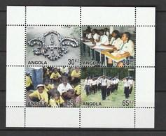 Angola 2007, Scouting Centenary S/s Mnh - Angola