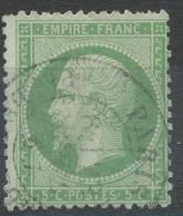 Lot N°43355    N°20, Oblit Cachet à Date De PARIS (Pl De La Bourse) - 1862 Napoléon III.