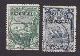 Azores, Scott #143-144, Used, Vasco De Gama Overprinted, Issued 1911 - Açores