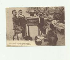 CHINE - Enfants Chinois Au Repas Swatow Animé Bon état - Chine