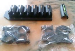 Porte Cartouches Pour FAP + Visée Truglo Cal 12 +  4 Colliers Weaver - Militaria