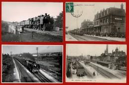 42 CP Gares AMIENS+BETHUNE+Train Viaduc De La Reine Blanche-Orry La Ville +photo De LEPAGE+Autres Ttes Scannées Lot N°53 - Postcards
