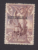 Azores, Scott #145, Mint Hinged, Vasco De Gama Overprinted, Issued 1911 - Azores