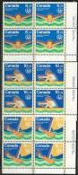 CANADA 1975 SCOTT/UNITRADE B4-B6** CORNER BLOCKS - Unused Stamps
