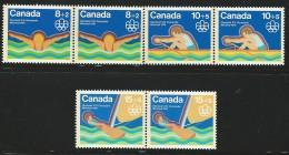 CANADA 1975 SCOTT/UNITRADE B4-B6** PAIRS - Unused Stamps