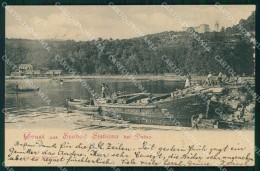 Trieste Duino Aurisina Sistiana Saluti Da Bagno Barche Cartolina RT1003 - Trieste