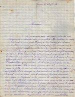 VP12.448 - Lettre De Mr Eugène SANSON à TOURS Récit D'un Ballon, D'une Fête , Expo De Fleurs & Revue Militaire à TOURS - Manuscripts