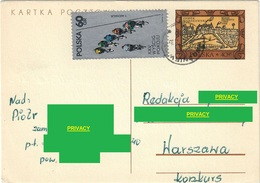 I.P. POLAND 1972 ZAMEK WARSZAWSKI (ROYAL CASTLE WARSAW) + STAMPS XXV CYCLING RACE FOR THE PACE 60 Gr. - SCOTT #1875 - Ciclismo