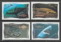 SERIE NEUVE DU CANADA - POISSONS MARINS N° Y&T 1511 A 1514 - Fische