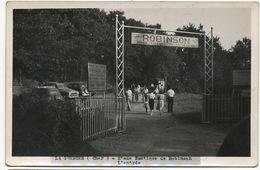 La Guerche Sur L' Aubois Stade Nautique Robinson Carte Photo L Entrée Bal Maneges Camping Gymnase Autos - La Guerche Sur L'Aubois