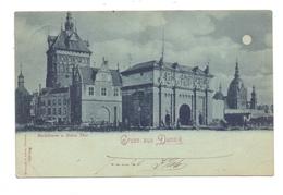 DANZIG - Jopengasse, Schaar & Dathe - TrierGruss Aus..., Stockthurm Und Hohes Thor, Mondschein-Karte, 1900 - Danzig