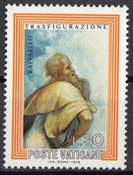 """Vaticano 1976 Blf. 598 """"Trasfigurazione (Dettaglio : Mosè ...tavole)"""" Quadro Dipinto Raffaello MNH Paintings .. - Religione"""
