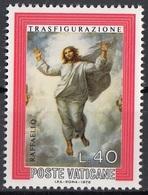"""Vaticano 1976 Blf. 599 """"Trasfigurazione (Dettaglio : Cristo)"""" Quadro Dipinto Raffaello MNH Paintings .. - Religione"""