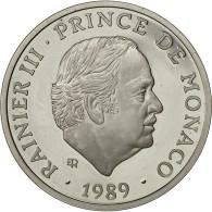 Monaco, Médaille, 40 ème Anniversaire De Rainier III, 1989, SPL, Argent - Other