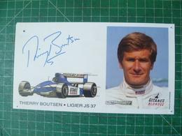 Thierry Boutsen. Photo Dédicécée. Ligier - Foto Dedicate