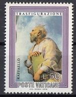 """Vaticano 1976 Blf. 600 """"Trasfigurazione (Dettaglio : Il Profeta Elia)"""" Quadro Dipinto Raffaello MNH Paintings .. - Religione"""