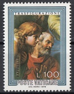 """Vaticano 1976 Blf. 601 """"Trasfigurazione (Dettaglio : Apostoli Pietro Giovanni) """"Quadro Dipinto Raffaello MNH Paintings - Religione"""