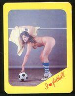 Russia USSR 1992 Football, Soccer Erotic Girl - I Love Football - Calendars