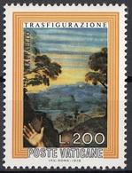 """Vaticano 1976 Blf. 603 """"Trasfigurazione (Dettaglio : Paesaggio) """"Quadro Dipinto Raffaello MNH Paintings - Religione"""
