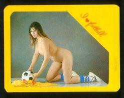 Russia USSR 1992 Football, Soccer Erotic Girl - I Love Football - Calendari