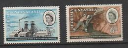 Rhodesia & Nyasaland 1961 Commonwealth Mining And Metallurgical Congress 2v Mnh - Rodesia & Nyasaland (1954-1963)