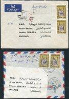 1970s Algeria 2 X  Airmail Covers - BBC London. Postage Due, Taxe - Algeria (1962-...)