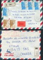 1979-99 Algeria 6 X Registered Airmail Covers - Canada. Medical University Ottawa Montreal - Algeria (1962-...)