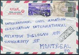 1976 Algeria Express Airmail Cover - International Civil Aviation Organisation, Montreal Canada - Algeria (1962-...)