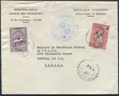 1974 Algeria Transport Ministry Cover - International Civil Aviation Organisation, Montreal Canada - Algeria (1962-...)