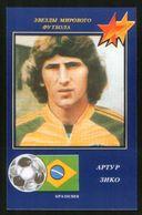 Russia USSR 1991 Football, World Soccer Stars: Arthur Zico (Brazil) - Calendars