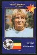 Russia USSR 1991 Football, World Soccer Stars: Jurgen Klinsman (Germany) - Calendars