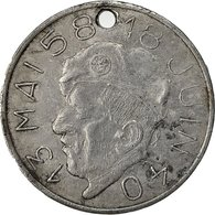 Algeria, Médaille, Général Massu, Algérie Française, 1958, TB+, Aluminium - Other